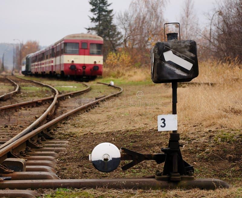 järnvägströmbrytare royaltyfria bilder