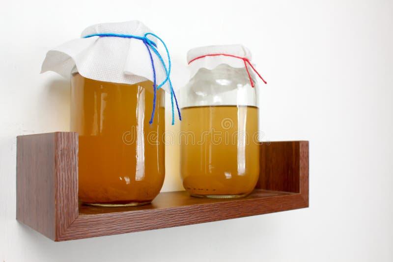Jäst drink, sunt naturligt probiotic för juni te royaltyfria bilder