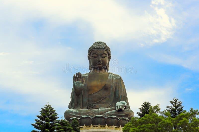 Jätte- Buddha Hong Kong arkivfoto