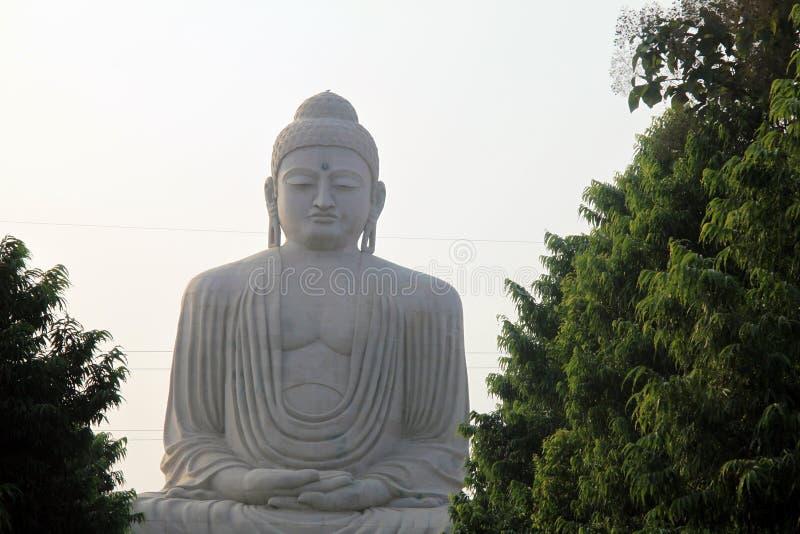 Jätte- Buddha på Bodh Gaya, Indien arkivfoton
