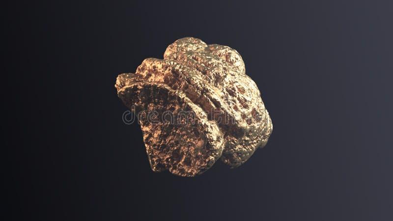 Jätte- guld- klump royaltyfria foton