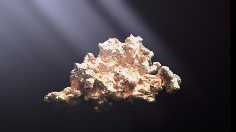 Jätte- guld- klump fotografering för bildbyråer