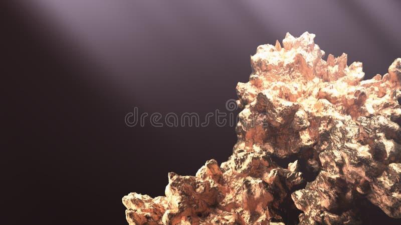 Jätte- guld- klump royaltyfri fotografi