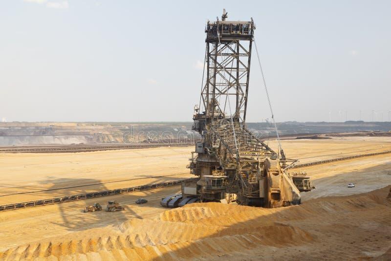 Jätte- Hink-hjul grävskopa In Mine royaltyfri foto