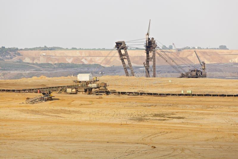 Jätte- Hink-hjul grävskopa In Pit Mine royaltyfri bild