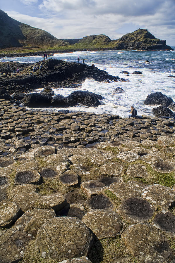 jätte- ireland för causeway nordlig bild s arkivbild
