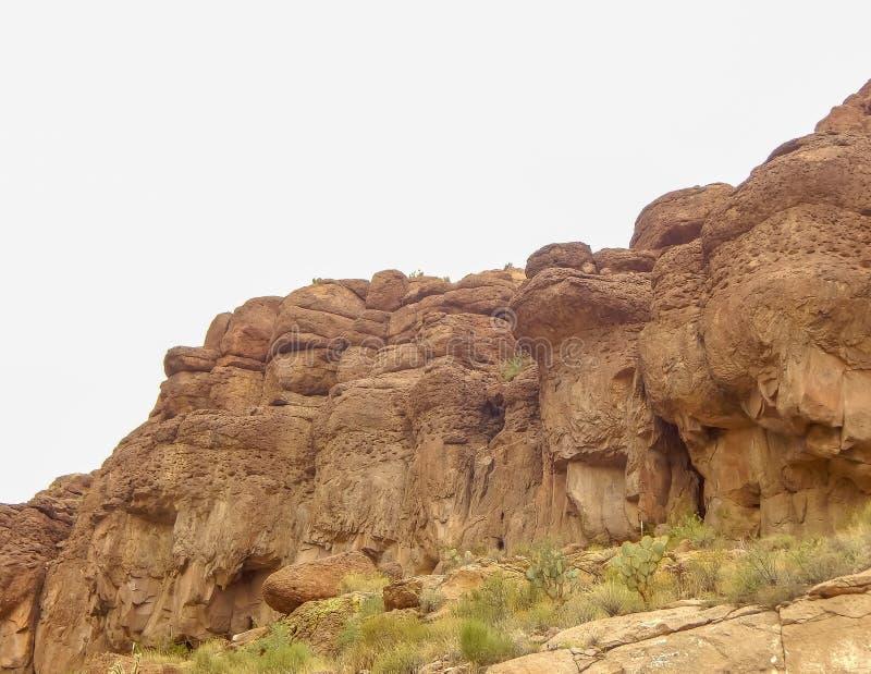 Jätte- kusligt vaggar i Arizona royaltyfria foton