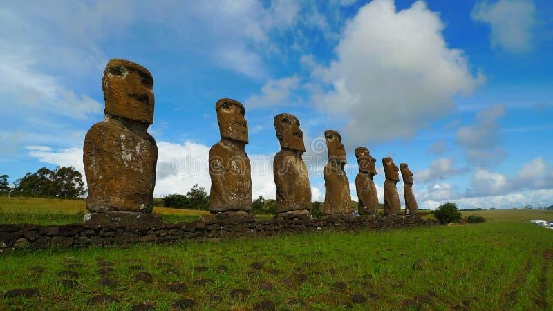 Jätte Moai av påskön royaltyfri bild