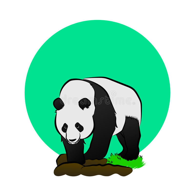 jätte- panda royaltyfri illustrationer