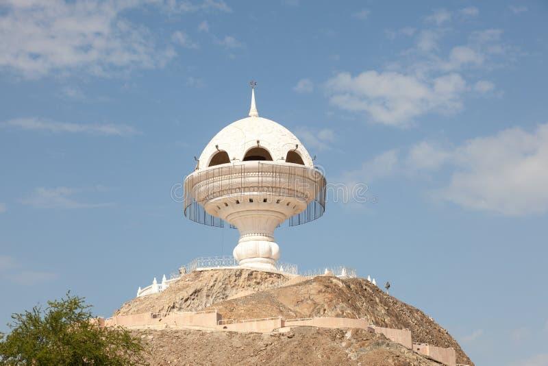 Jätte- rökelsegasbrännare i Muscat, Oman royaltyfri bild