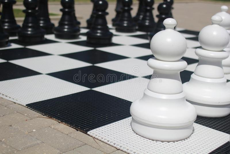 jätte- schackbräde royaltyfri bild