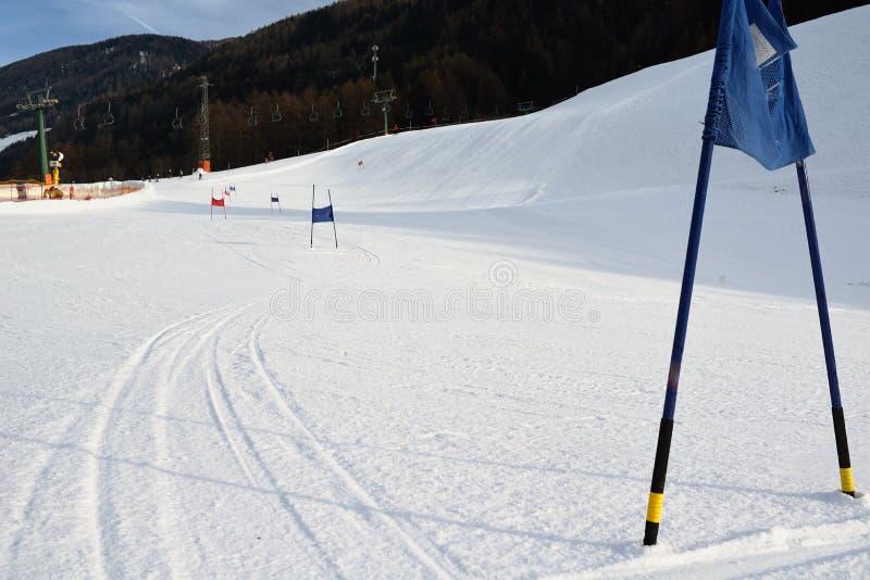 Jätte- slalomportar royaltyfri fotografi