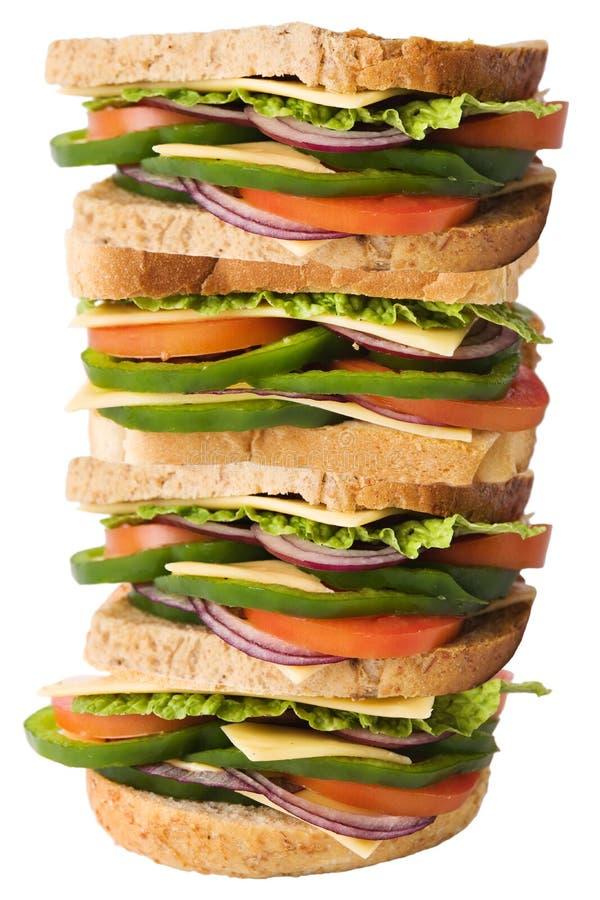 jätte- smörgås royaltyfria bilder