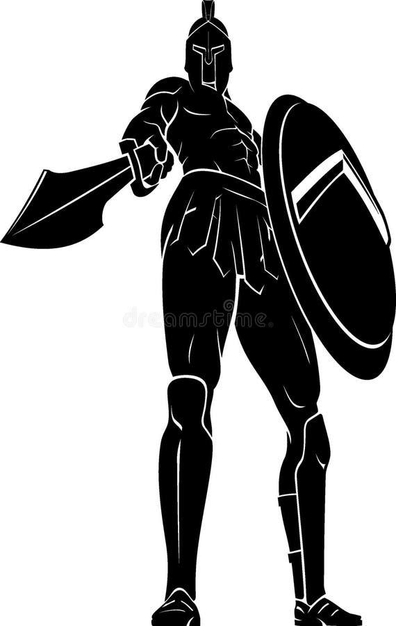 Jätte Spartan Sword Point stock illustrationer