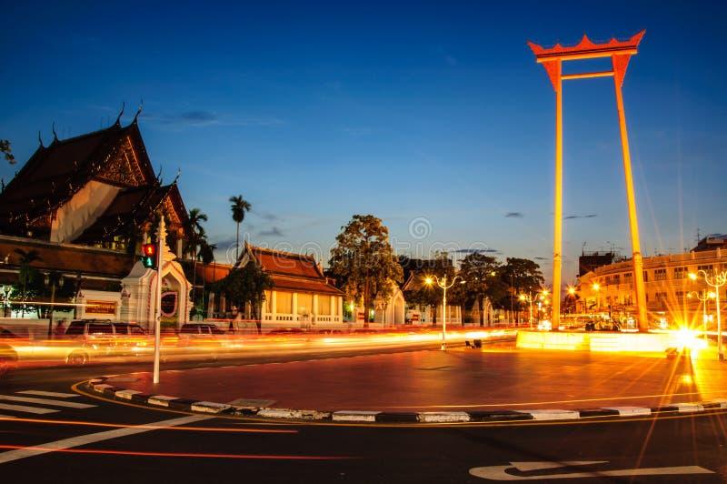 Jätte- swing i Bangkok royaltyfri bild