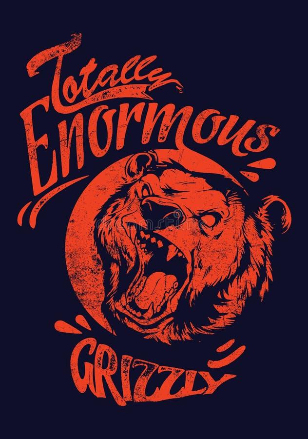 Jättelik grisslybjörn stock illustrationer