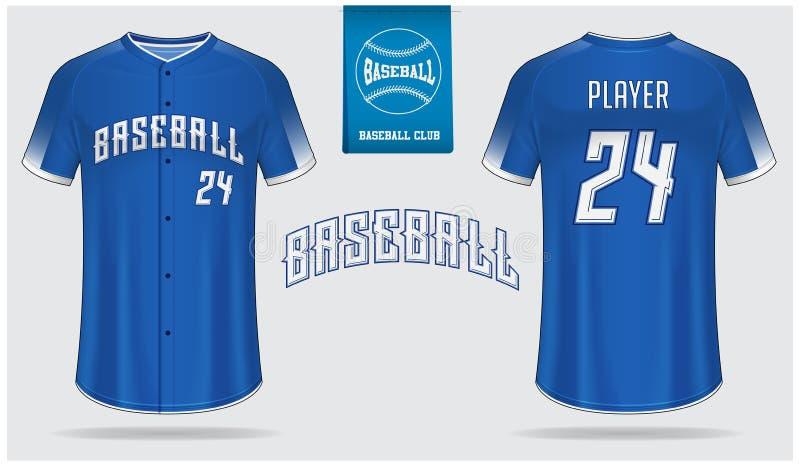 Jérsei de basebol, uniforme do esporte, projeto do molde do esporte do t-shirt do raglan Zombaria do t-shirt do basebol acima Par ilustração royalty free