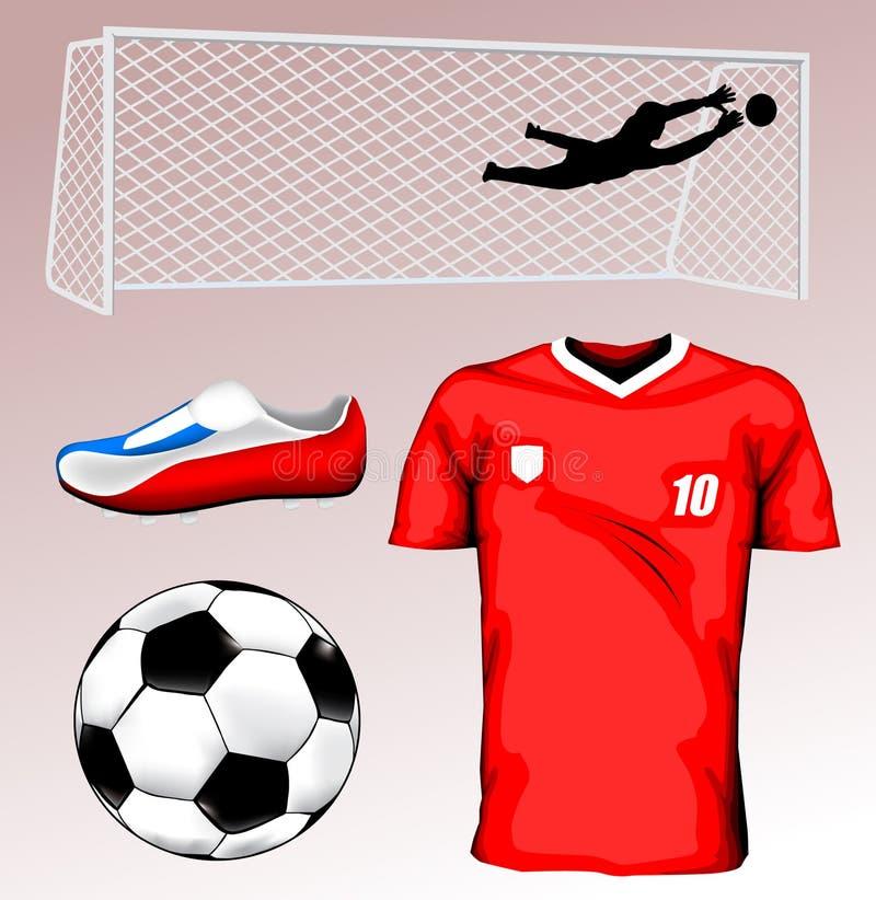 Jérsei de futebol ilustração stock