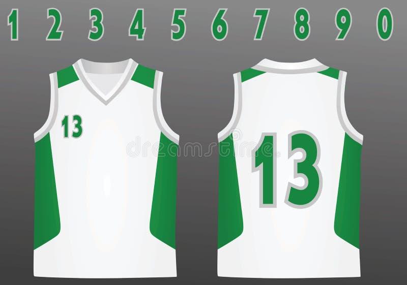 Jérsei do basquetebol com números ilustração royalty free