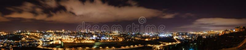 Jérusalem la nuit photographie stock libre de droits