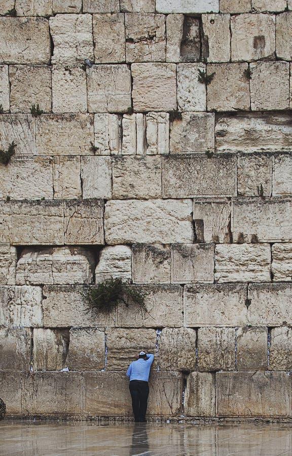 Jérusalem, mur occidental, prière image stock