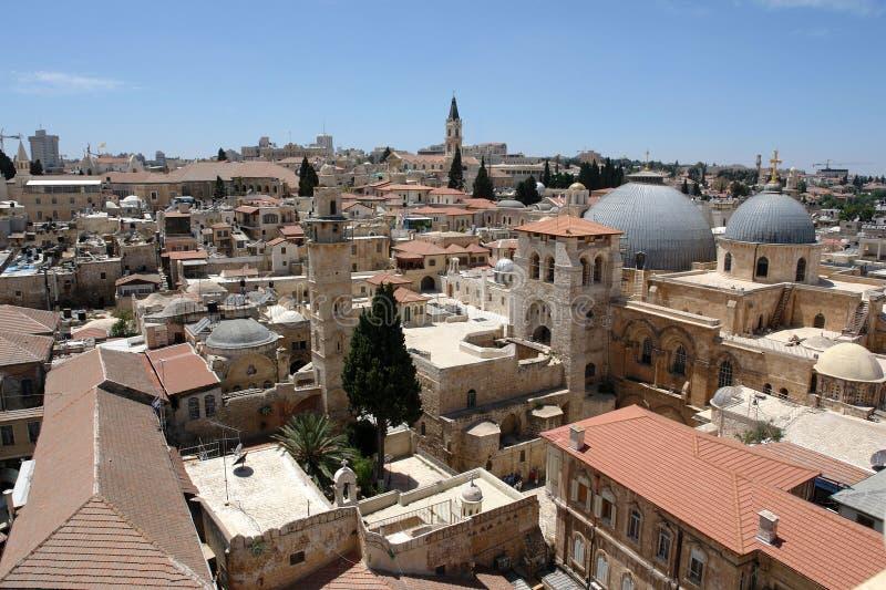 Jérusalem, ville de trois religions, image libre de droits