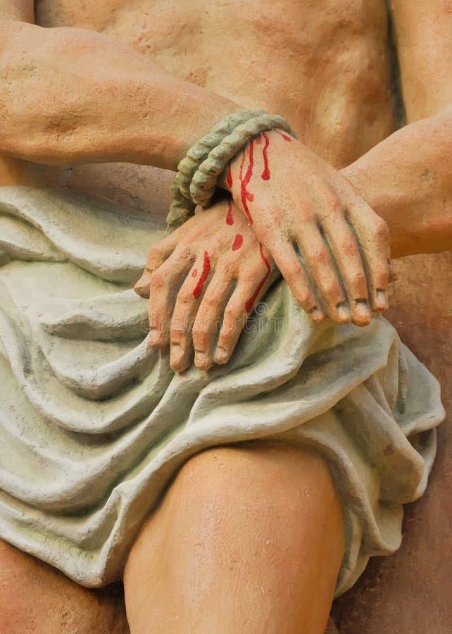 Jésus à la croix no.1 photos libres de droits