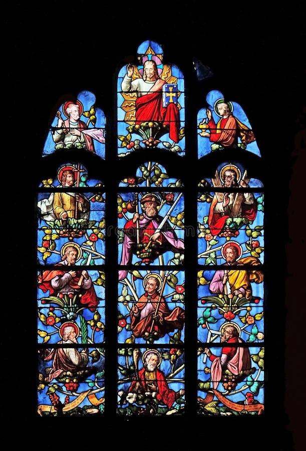 Jésus avec des apôtres photographie stock libre de droits