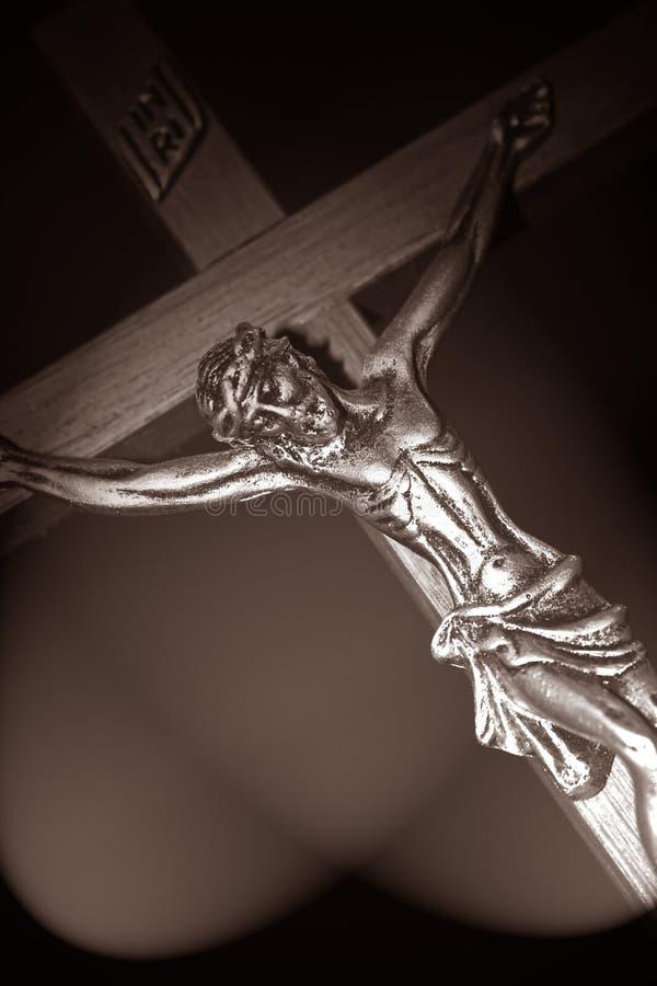 Jésus-Christ dans chaud photographie stock libre de droits