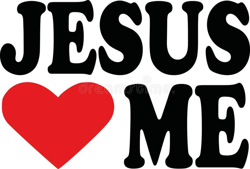 Jésus m'aime illustration de vecteur