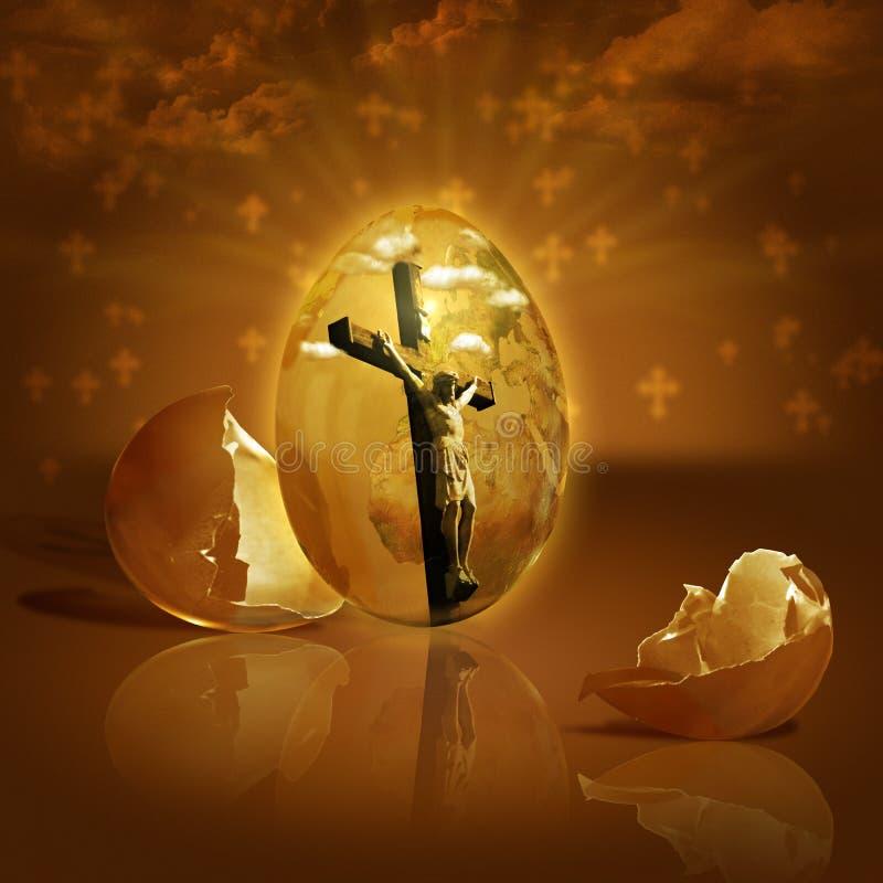 Jésus s'est levé des morts sur Pâques images libres de droits