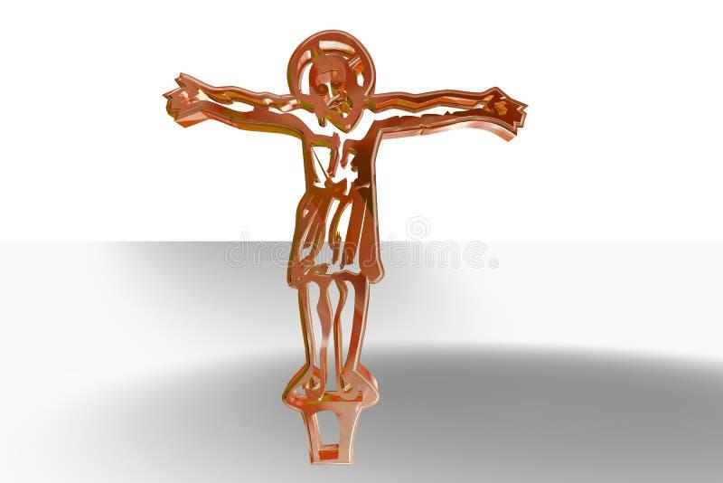 Jésus sur l'illustration en travers illustration stock