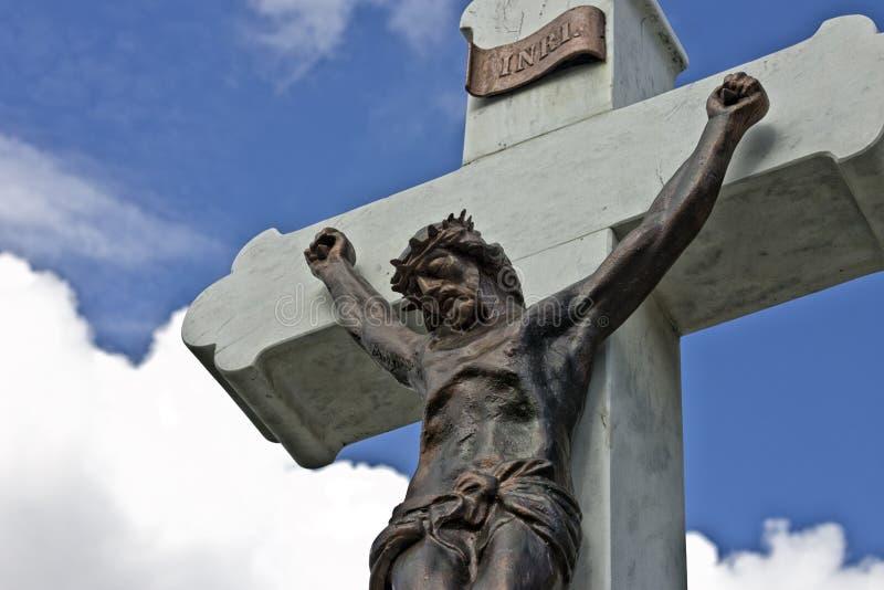Jésus sur la croix images stock