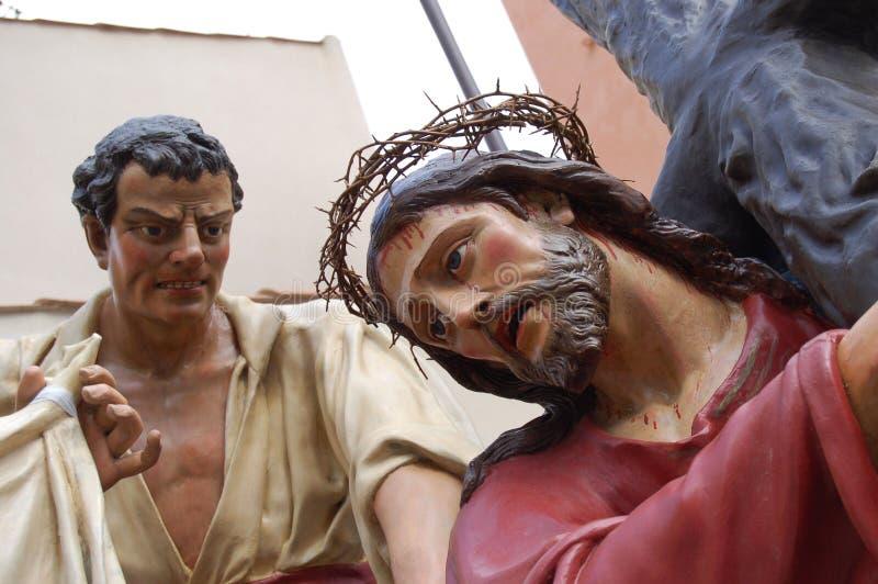 Jésus sur le calvaire image libre de droits