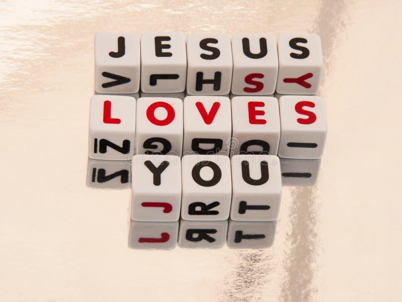 Jésus vous aime photographie stock