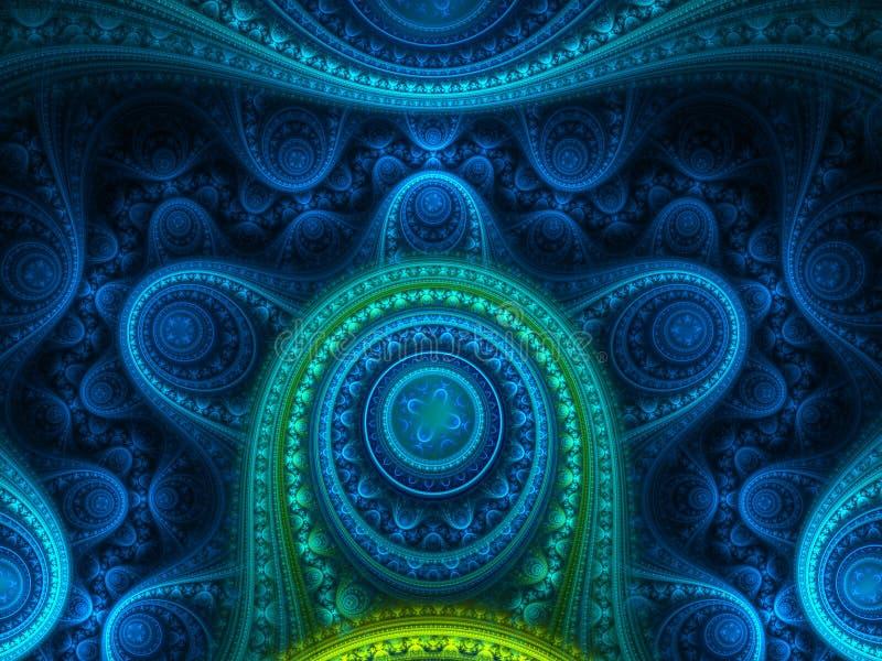 Jóia azul extravagante ilustração stock