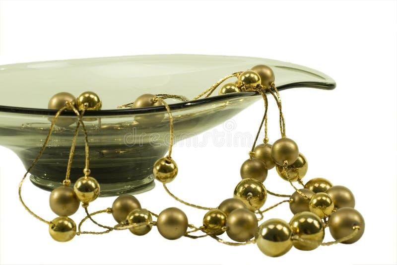 Jóia com prato decorativo fotografia de stock royalty free