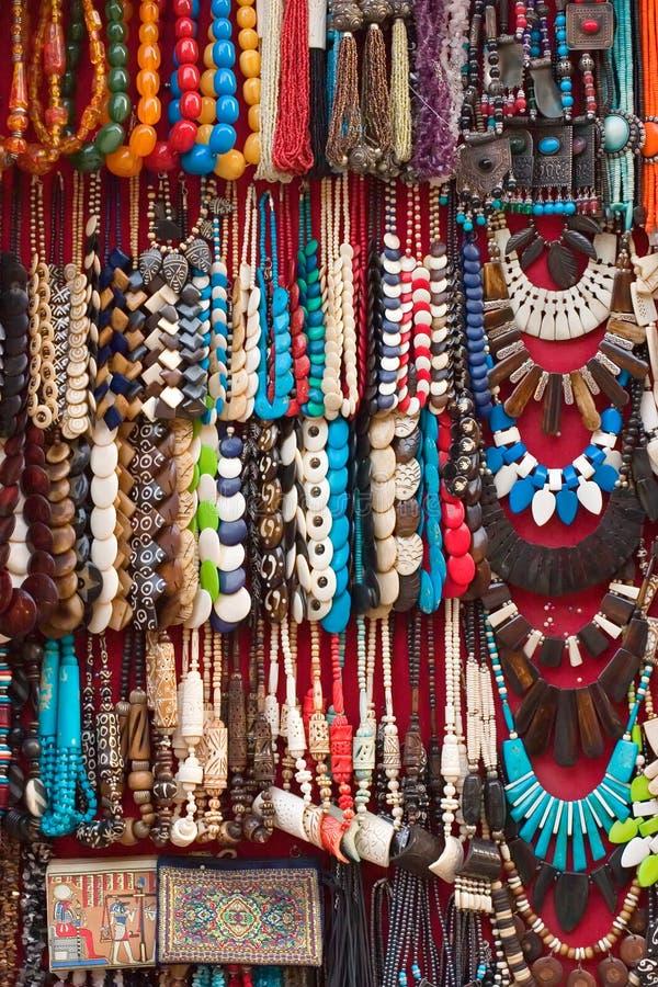 Jóia de traje étnico egípcia fotografia de stock