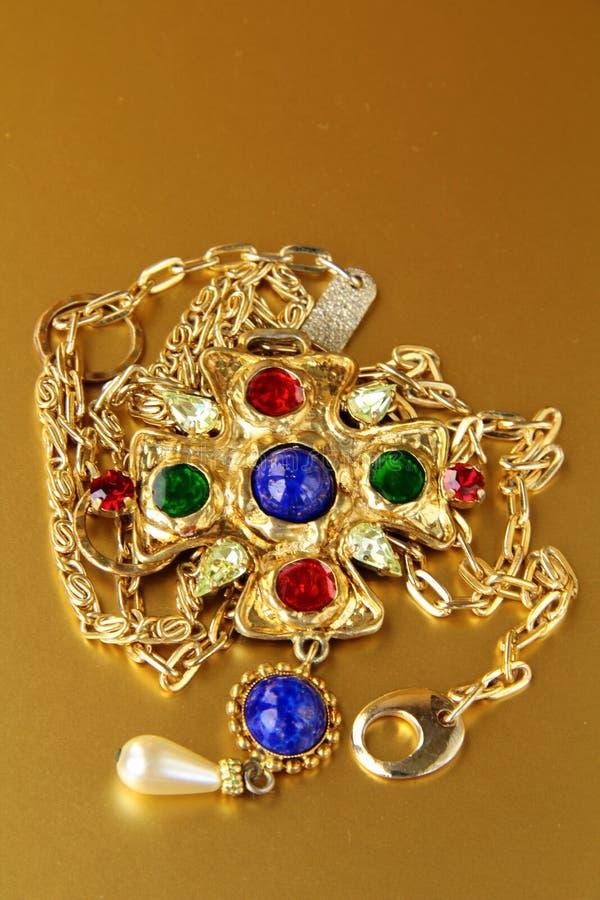 Jóia do ouro foto de stock royalty free