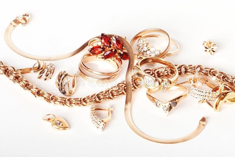 Jóia do ouro imagens de stock royalty free