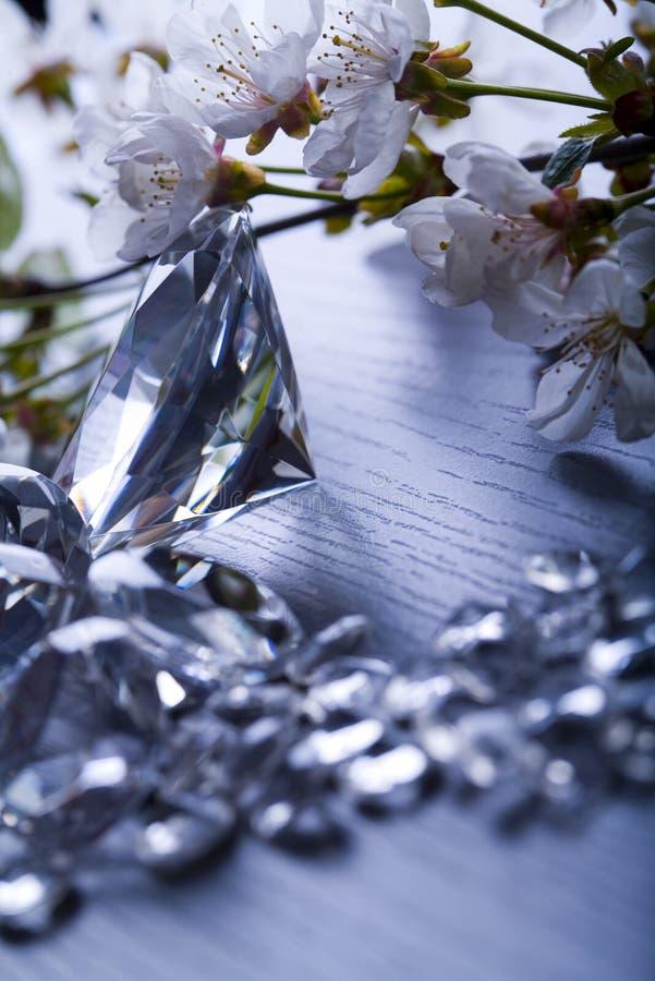 Jóia natural - diamante fotografia de stock royalty free