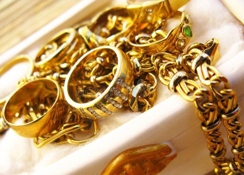 Jóias do ouro imagens de stock royalty free