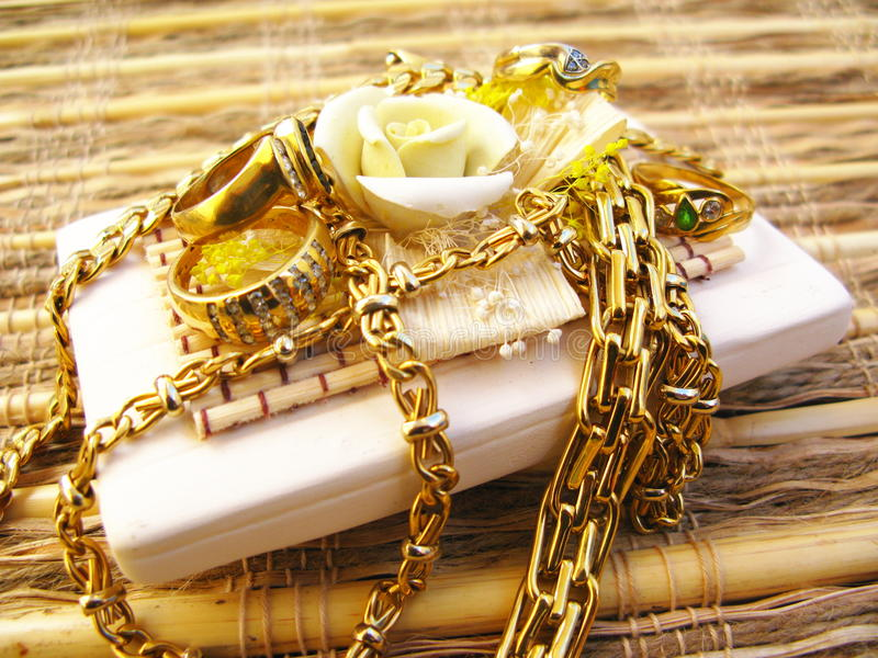 Jóias do ouro imagem de stock royalty free
