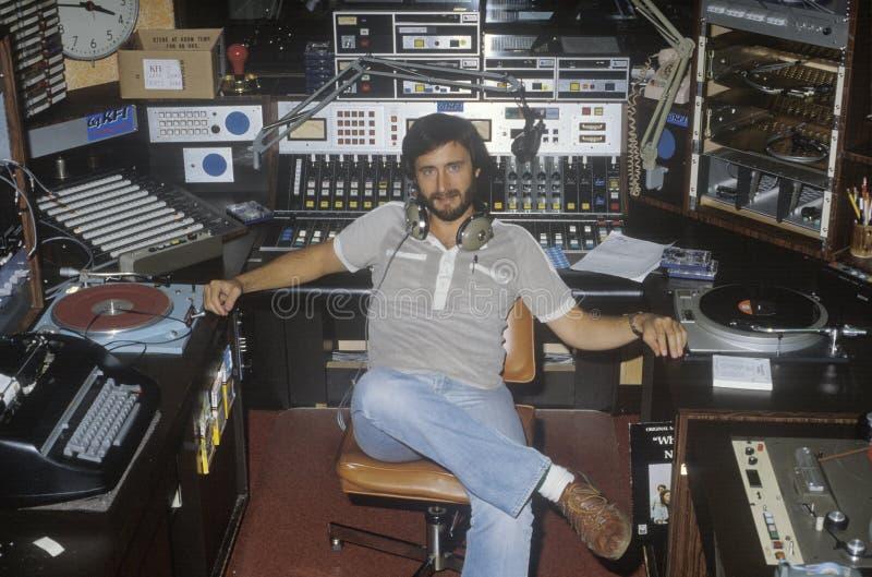 Jóquei de disco de rádio para a estação KFI fotos de stock
