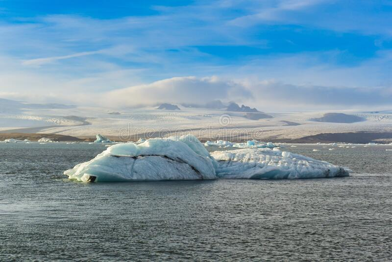 Jökulsárlón glacier lagoon, Iceland royalty free stock images