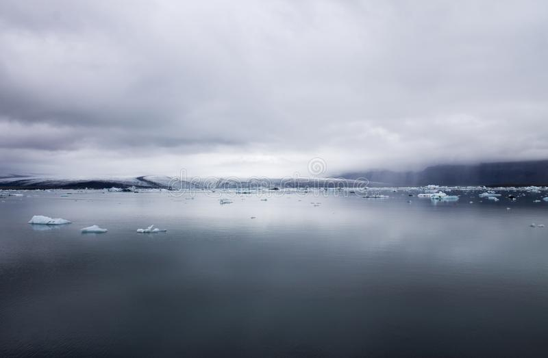 Jökulsárlón Islândia Lago glacier imagem de stock royalty free