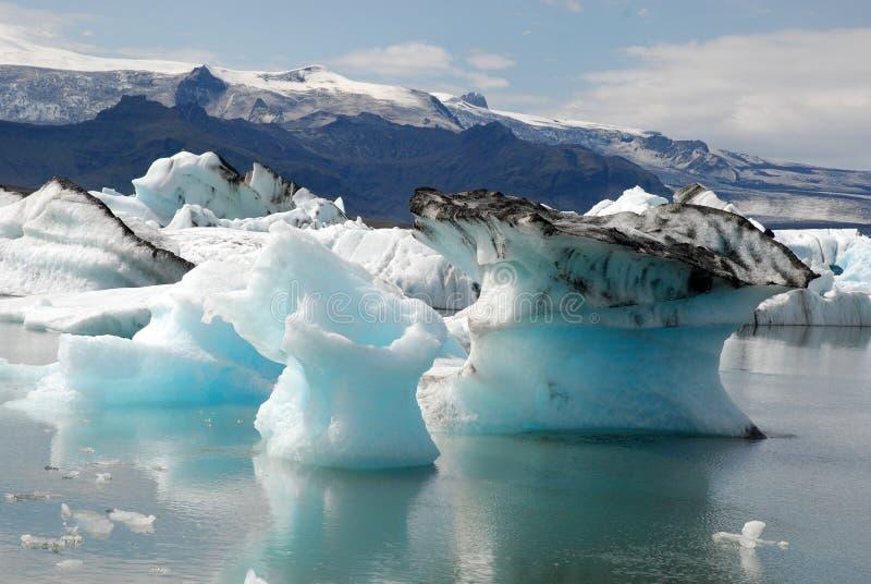 Jökulsà ¡ rlà ³ N Gletscher und Gletscherlagune Island stockbild