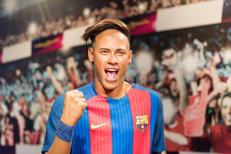 Júnior brasileiro de Neymar do jogador de futebol foto de stock royalty free