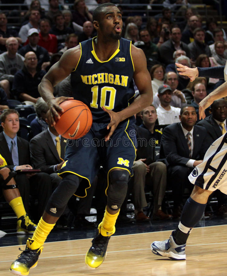 Júnior de Tim Hardaway do protetor de Michigan. foto de stock