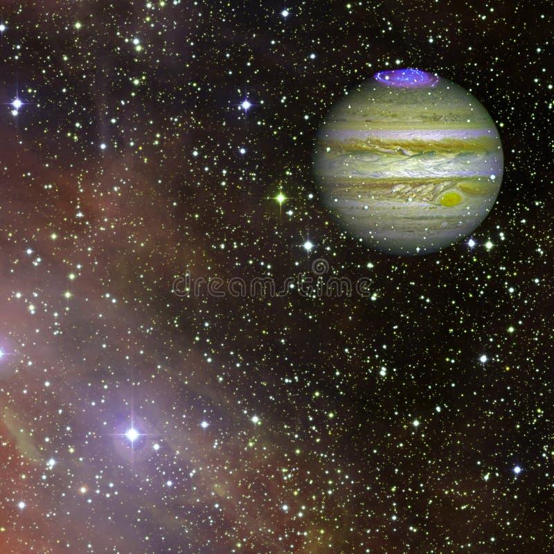 Júpiter no espaço Elementos desta imagem fornecidos pela NASA ilustração do vetor